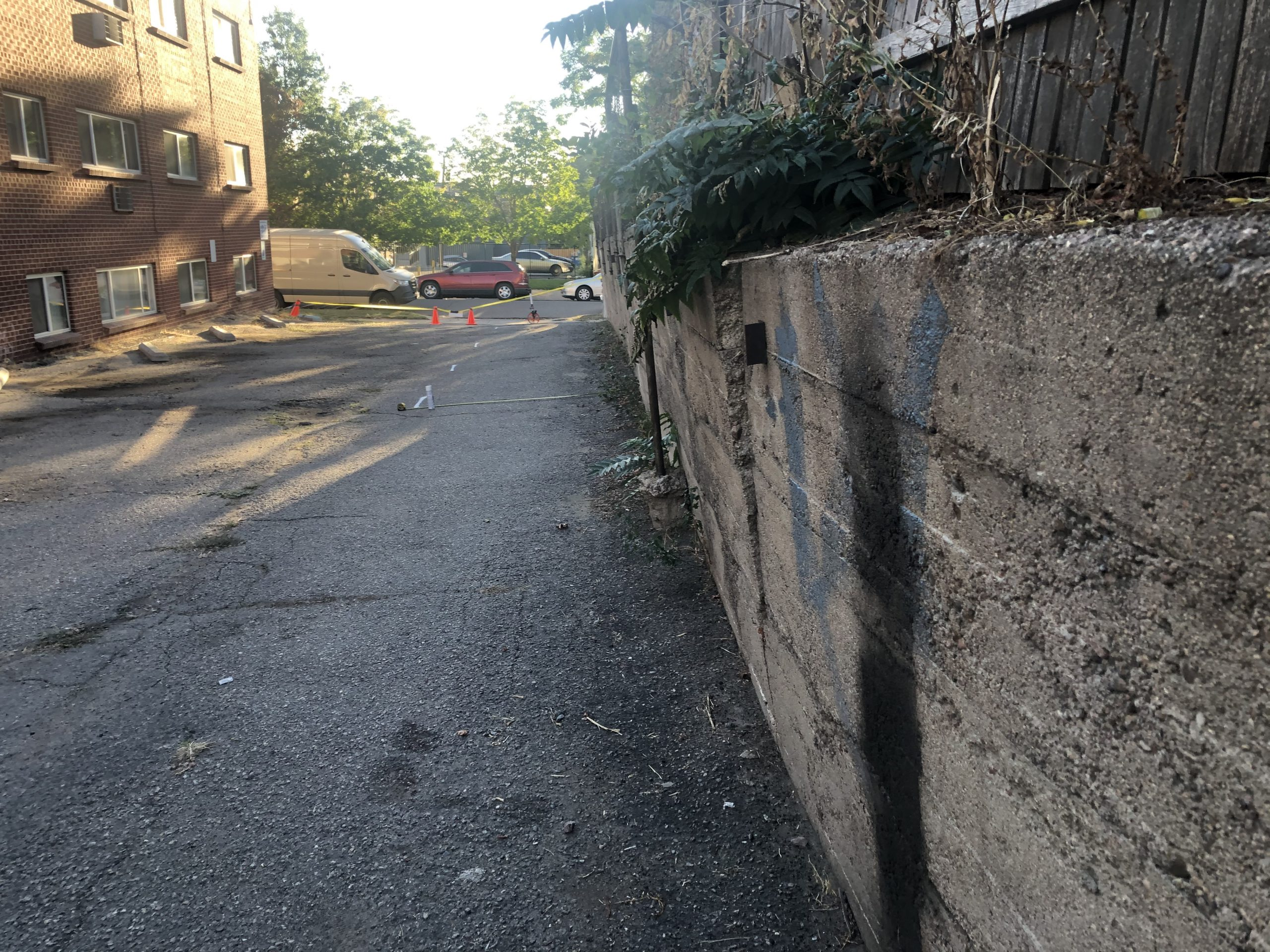 parking-lot-project-compromised-retaining-wall